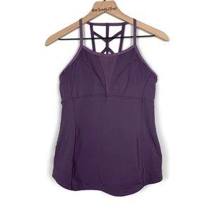 Zella | Purple Criss Cross Back Workout Tank Top